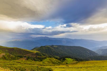 mountainscape: Beautiful mountain summer view Stock Photo
