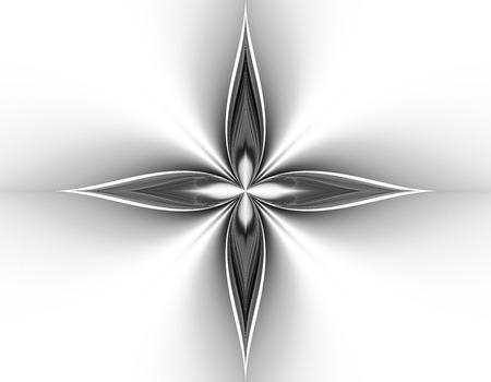 blackwhite: Monochrome abstract fractal illustration Stock Photo