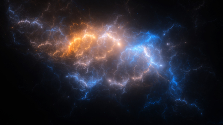 nebulosity: Abstract fractal illustration looks like galaxies Stock Photo