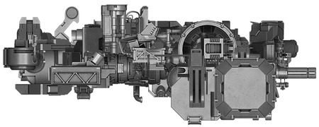 industrial machinery: 3d illustration of abstract industrial equipment technology