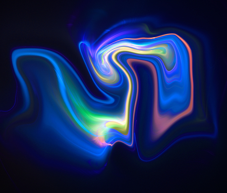 liquefy: Colorful psychedelic liquefied background looks like painting Stock Photo
