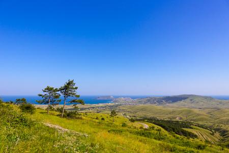 vastness: Beautiful crimean green landscape Stock Photo