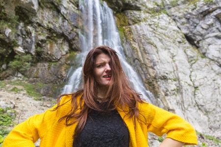 disenchantment: Beautiful long hair woman emotional portrait