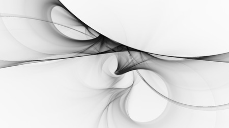 Monochrome abstract fractal illustration Stock Photo