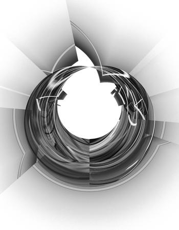 fantasy: Monochrome abstract fractal illustration Stock Photo