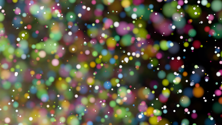 Beautiful colorful bokeh blurred background with defocused lights Stock Photo