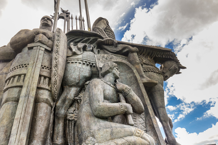 Battle on the Ice monument in Pskov Stock Photo