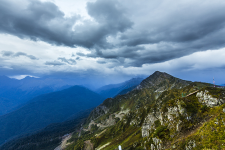 mountainscape: Scenary view of Caucasus mountains