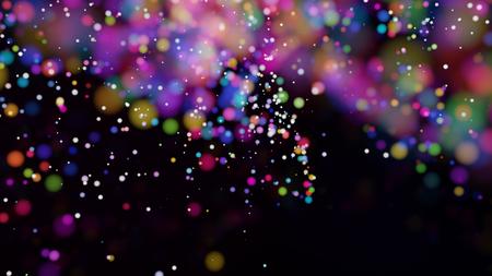 Beautiful colorful bokeh blurred background defocused lights Stock Photo