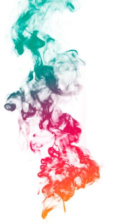 Colorful fantasy smoke on white background