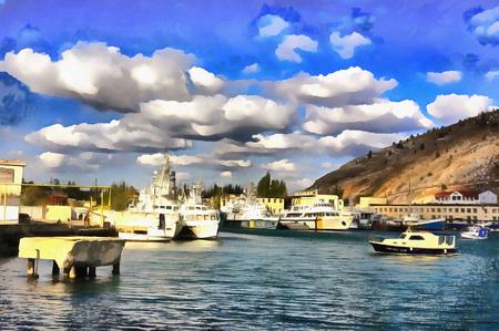 バラクラ湾のカラフルな絵画