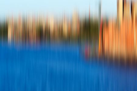 Psychedelic background based on blured landscape image 免版税图像