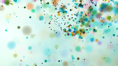 Beautiful colorful bokeh blurred background defocused dots