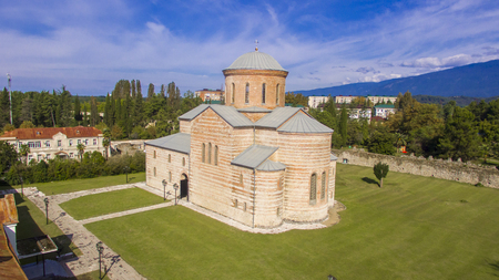 Aerial view on Pitsunda Cathedral