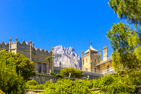 View on Vorontsov castle and the garden 版權商用圖片