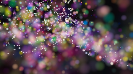 Beautiful colorful bokeh blurred background defocused lights Stock Photo