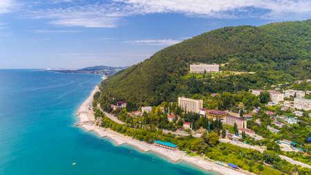 View from drone on Black sea coast resort Stock fotó