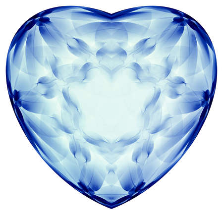 3D illustration of abstract fractal for creative design looks like heart.