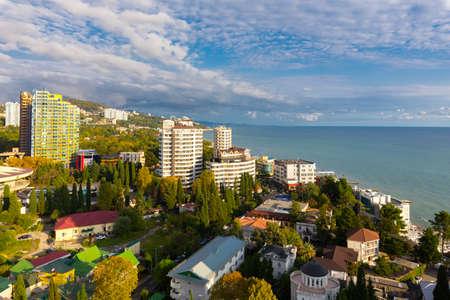 Beautiful modern cityscape at summer time, Sochi, Russia. Stock fotó