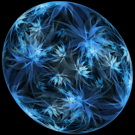 3D illustration of abstract fractal for creative design looks like diamond.