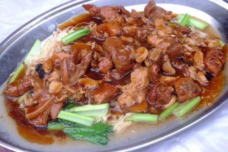 stewed: stewed pork leg