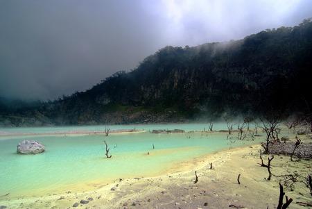 Kawah Putih Crater in Ciwidey West Java,indonesia Stock Photo