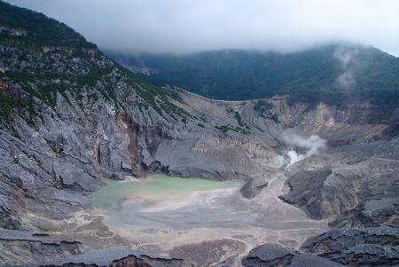 vulcanology: Mountains around Tangkuban Perahu, Bandung, Indonesia Stock Photo