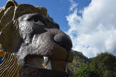 The Lions Head is a famous attraction along Kennon Road, a major highway in Luzon, Philippines that leads to the city of Baguio