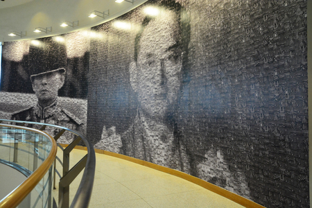 BANGKOK ,THAILAND .NOV 23 ,2016.In Remembrance of His Majesty King Bhumibol Adulyadej Photography Exhibition at Bangkok Art and Culture Centre is a contemporary arts centre in Bangkok, Thailand.