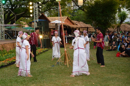 lumpini: BANGKOK, THAILAND - January 25,2017 : Thailand Tourism Festival 2017 DETAIL;Date 25 - 29 Jan 2017Venue: Lumpini Park, Bangkok.Activities: Five regional tourism villages that display the way of life of the Thai people in each region, and to publicize and c