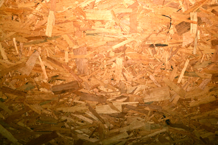 Plywood background and textured, OSB wood  ** note select focus blur : ideal use for background Stock Photo