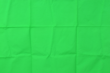 Green chromakey  background crease