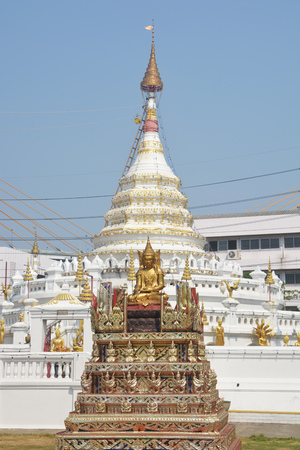 Temple of Wat Songtham,  Phra Pradaeng district,  Samut Prakan Province, Thailand