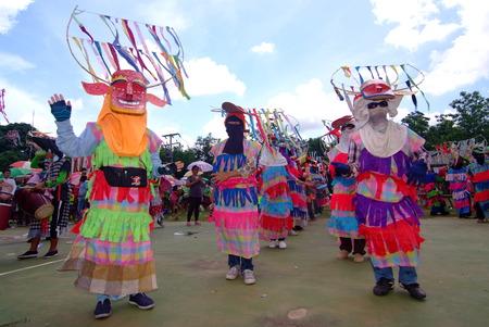 banned: LOEI, THAILAND - MAY 12, 2017 : Phi Kon Nam Cultural in Chiang Khan, The little-known Phi Kon Nam festival in Ban Na Sao is part of the villages rain-inducing Bun Bang Fai (Rocket Festival) Editorial