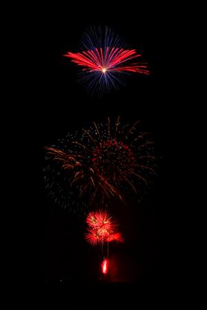 fireworks light up the sky, festive celebration