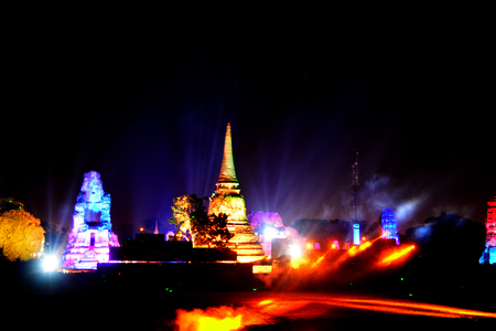 Ayutthataya, Thailand  : December 24,2017 : Ayutthaya world Heritage and red Cross Fair 2017 the fair to celebrate the World Heritage City every year