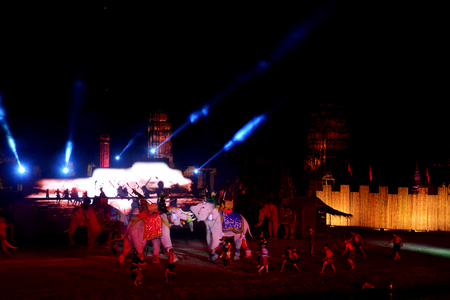 Ayutthataya, Thailand  : December 24,2017 : Ayutthaya world Heritage and red Cross Fair 2017 the fair to celebrate the