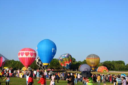 Chiang Rai, Thailand - February 14 - 18, 2018 : Balloon Festival