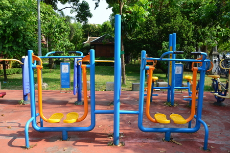 HEALTH PARK OR FITNESS PARK Stock Photo
