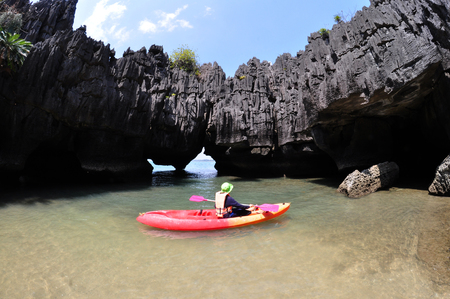 Stone Castle (Prasathinphanyod), Koh Khao Yai  is under Pae Tra Islands National Park in Satun Province, Thailand