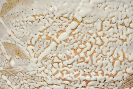Close up of Japanese Ceramic Creamy Vase texture Stock Photo