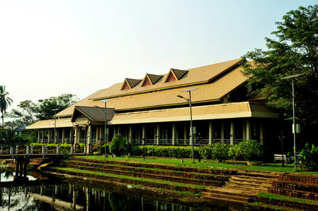 PHETCHABUN, THAILAND – 29  SEPTEMBER 2019 : Nakornban Phetchabun Cultural Hall It is a large auditorium hall for the study concerning the history of Phetchabun.