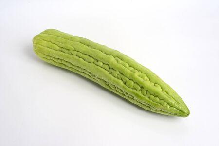 Bitter melon on  white background.