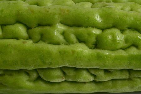 close-up Bitter melon texture background. Banque d'images