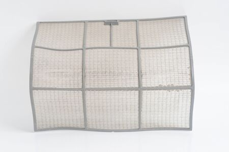 Air conditioner filter on white background