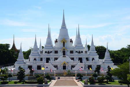 Phra Thutangkha Chedi (Dhutanga Chedi) of wat asokaram, Mueang Samut Prakan, Samut Prakan Province, Thailand Stock fotó