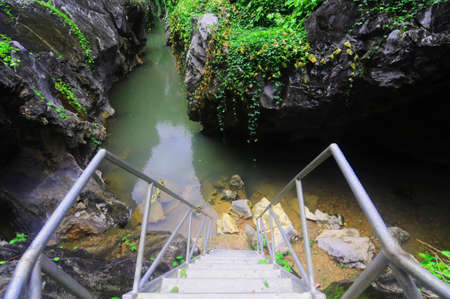 Khlong Hin Dam Tourist Attraction is Grand canyon Black Rock in Sawi District, Chumphon Province, Thailand