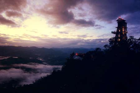 Magnificent view  at Aiyerweng Skywalk, Betong, Bang Lang national park, tropical rainforest Southern Thailand, pubilic places
