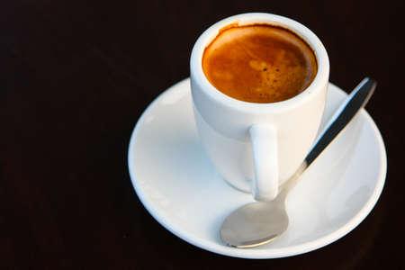 crema: Cup of espresso crema Stock Photo