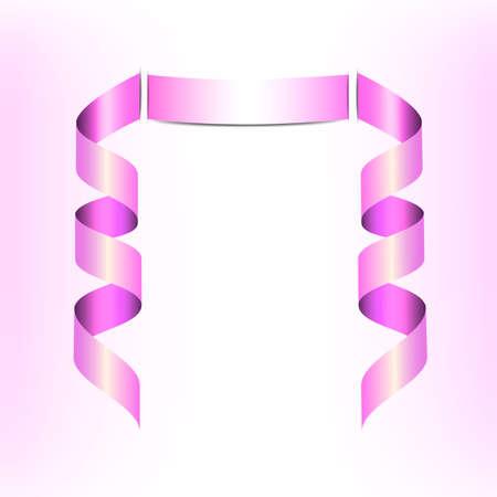 streamer: Pink Streamer, vector illustration